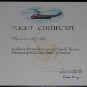 ReaganSignedHMx1FlightCert