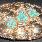 Belt Buckle Gold 3 Turk Stones