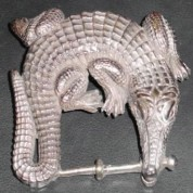 Belt buckle Sterling Alligator1