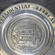 Camp David Pewter Plate Old Style Close