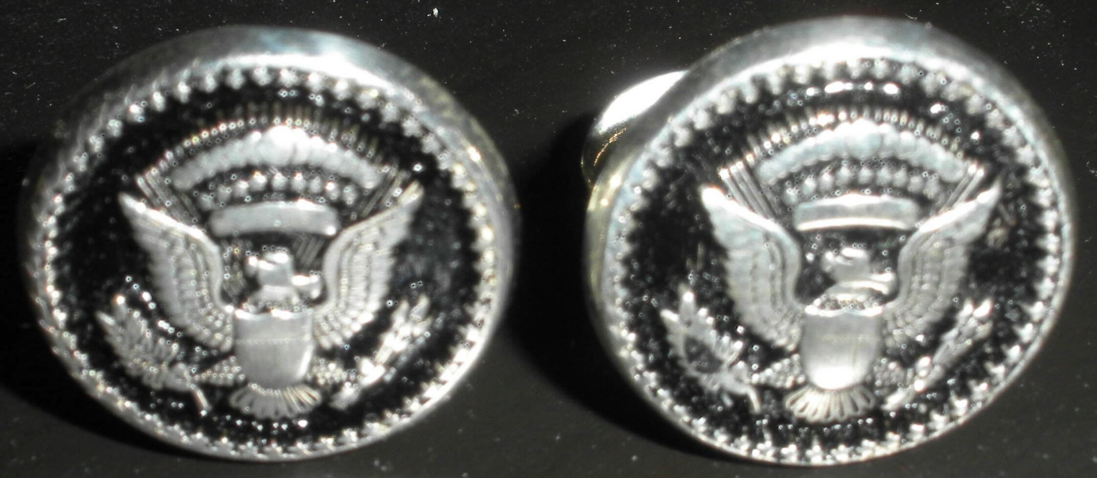 Ronald Reagan S Sterling Silver Presidential Seal Cuff Links