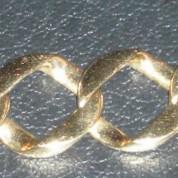 Flat Link 14K Gold Bracelet1