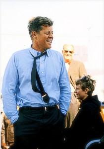 JFK GOLD PT Tie Cliip