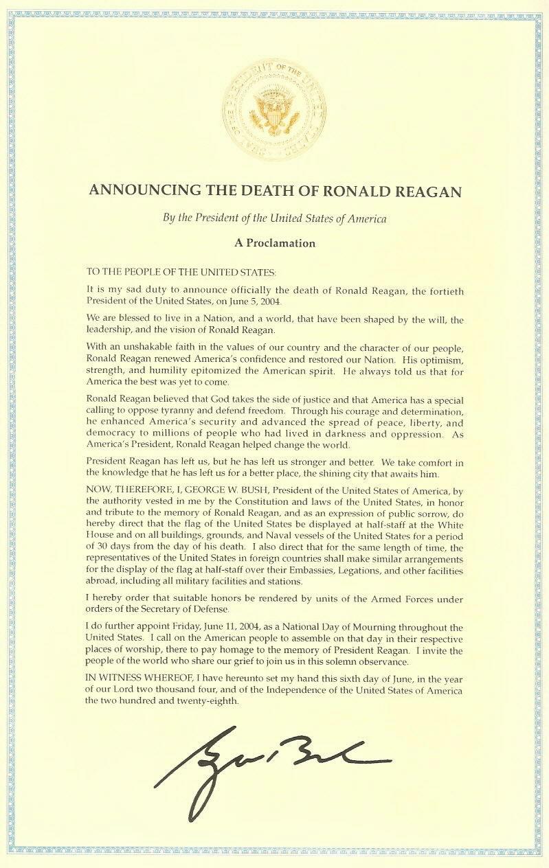 Reagan Death Certificate