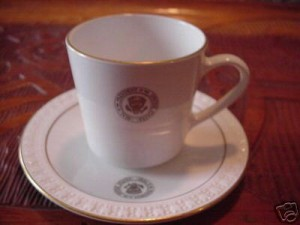 White House Gold Trim Cup & Saucer1